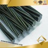 Dehnbarer 15.24mm Stahlstrang mit Draht 1X7