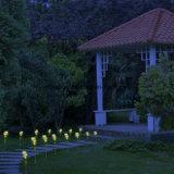 Las luces solares de la flor de Rose amarilla, solar accionaron el paisaje decorativo al aire libre del jardín Las luces de Rose del LED todo el año, gran regalo