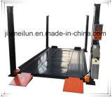 Sistema do estacionamento do carro da braçadeira de roda de quatro bornes