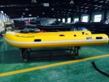 Rib barco (4.0m, branco e luz de cor cinza)