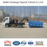 0.8ton 탑재량 Foton Forland 유로 3 훅 팔 드는 유형 쓰레기 트럭
