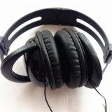 Auriculares novos do Headband do projeto que fazem a ABS o auscultadores de couro material