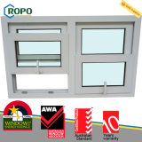 Finestra di vetro appesa di plastica laminata di legno economizzatrice d'energia di UPVC doppia