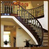 Balaustrada de alumínio de bronze interna para os trilhos da escadaria (SJ-B036)