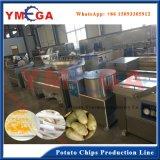 L'acier inoxydable a fait la chaîne de production congelée semi automatique de pommes chips