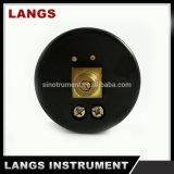 Calibrador de presión interno de cobre amarillo plástico negro de 018 fábricas