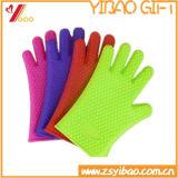 Silicone colorido da alta qualidade feita sob encomenda que cozinha as luvas (YB-AB-016)