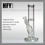 Glas 10 van Hfy de Rechte Rokende Waterpijp van het Glas van Mobius van de Buis '' voor Tabak 18.8 Mannelijke Gezamenlijke Duidelijke Dikke Ronde Basis