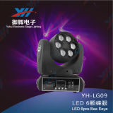 60W LED bördelt bewegliches Hauptträger-Licht 4 in 1 6PCS Tian Xin Lampe Stadiums-Licht