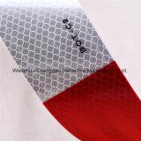 Лента любимчика красная и белая высокой интенсивности отражательная