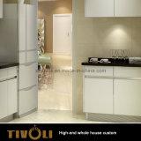 백색 부엌은 부엌 찬장 만원 내각 가구 관례 Tivo-047VW를 디자인한다