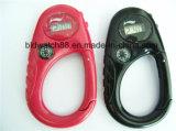 Montres imperméables en plastique à mousqueton Montre à ceinture pour extérieur