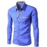2017枚の卸し売り人のワイシャツの綿の方法長い袖のワイシャツ