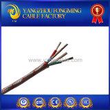 Câble de thermocouple tressé d'écran protecteur d'acier inoxydable de fibre de verre d'isolation de silicones
