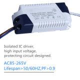 3W 둥근 LED 위원회 빛 AC85-265V 90lm/W 천장 램프 Ce/RoHS 실내 호리호리한 위원회 점화