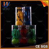 1개의 고정되는 실리콘 단 하나 호스 호박 다채로운 물집 포장 Hookah