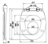 Westlicher Entwurf heißer verkaufenDuroplast Toiletten-Sitzdeckel