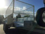 Rimorchio in tandem idraulico resistente galvanizzato tuffato caldo con la gabbia