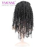 Moda de Malasia Curl brasileña Remy peluca de pelo, Alixpress Yvonne pelucas delanteras del cordón del pelo humano, color 1b de la peluca de las mujeres