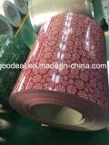 el acero prepintado impresión de la flor enrolla PPGI de la fábrica del yehui de shandong