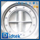 Didtekのステンレス鋼304の空気の三倍のオフセットの蝶弁