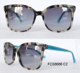 Modèle de 2017 modèles des lunettes de soleil d'acétate de mode pour des dames