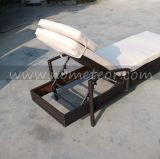 Fainéant en osier de Sun de meubles du jardin Mtc-411 de piscine de rotin de plage de Sun de PE extérieur de bâti