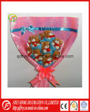 Soft Plush Mini Dog Bouquet de flores Gift Toy