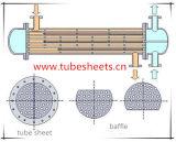 鍛造材の管シート、バッフル、炭素鋼またはステンレス鋼または合金鋼鉄のフランジ
