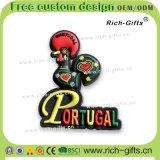 Gallo promozionale personalizzato del Portogallo del ricordo dei magneti del frigorifero del PVC della decorazione dei regali (RC-PT)