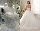 De nieuwe Kleding van het Huwelijk van de Toga van de Bal van de Aankomst Bruids met het Lijfje van de Kralenversiering