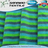 Multi Farben-Streifen-Baumwoll-Polyester-Samt, der gestricktes Denim-Gewebe für Childern Spielzeug strickt