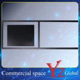 Acier inoxydable de stand de mémoire de panneau d'affiche de stand de drapeau de bâti d'affiche de promotion de stand d'exposition de panneau de signe de présentoir du stand d'affiche (YZ161502)