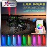 Der Faser-Optik-LED Peitschen Sicherheits-der Markierungsfahnen-LED, rote blaue orange grüne Peitsche des RGB-Bluetooth des Steuer4ft 5FT 6FT Weiß-LED für ATV UTV
