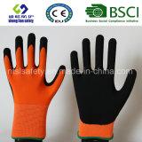 Покрытие нитрила, перчатки работы безопасности отделки Sandy (SL-NS108)