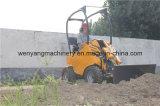 Carregador compato Earthmoving da roda com lâmina da escavadora