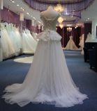 Nuovo vestito 2017 dalla principessa cerimonia nuziale di arrivo con la parte superiore del merletto