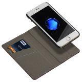 Caixa destacável de couro do fólio da carteira com o Keystand para o iPhone 6s