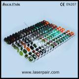 Típico para laser 635nm y 905nm y 980nm que blinda las gafas de seguridad de laser de los anteojos para el laser rojo, lasers de los diodos con el marco blanco 52