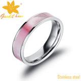 Exsr66b joyas de moda dedo del anillo de oro vueltas más Negro