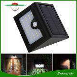 De openlucht Lichte LEIDENE 28PCS van de Groothandelsprijs Muur zet Licht van de Veiligheid van de Sensor van de Tuin het Zonne op