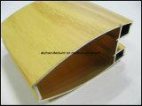 Perfil de extrusão de liga de alumínio em cor de madeira para porta e janela