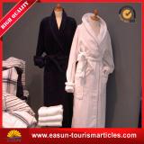 Bathrobe acolchoado algodão bordado do hotel de luxo do toque macio