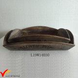 ぼろぼろのシックな型浅いボックス木製プランターブラウン