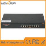 Interruptor portuario de la red de Ethernet del gigabit 15.4W Poe de la empresa 8