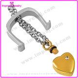 Verascht eindeutiges Inneres Ijd8148 in der Tür-Edelstahl-Verbrennung-hängenden Halskette Andenken-Halter