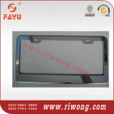 Negro o acero inoxidable de plata Holder placa decorativa