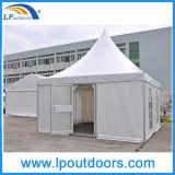 tente en aluminium de chapiteau de pagoda de luxe de 5X5m avec une porte en verre