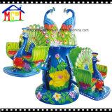 陽気な円形幸せな恐竜の卵の乗車は子供の屋内演劇の土地のための行く
