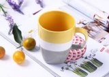 Taza del viaje fina cerámica verde con mango galzed